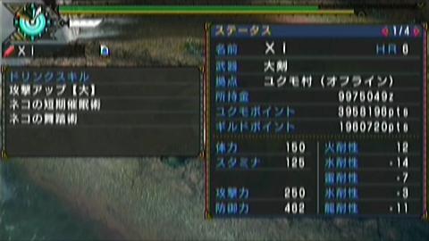 闇中×ガチ大剣(8分45秒)ステータス 短期