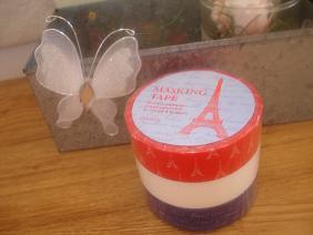 蝶の飾り物と・・マスキン