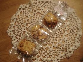 ラッピング・・キャラメルナッツクッキー