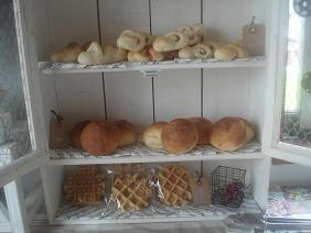 パン2種&ワッフル