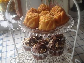 バラ型ケーキ&チョコマフィン