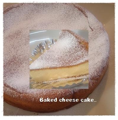 ベイクドチーズケーキ♪
