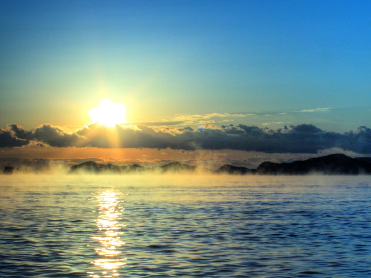 気嵐の袙海岸