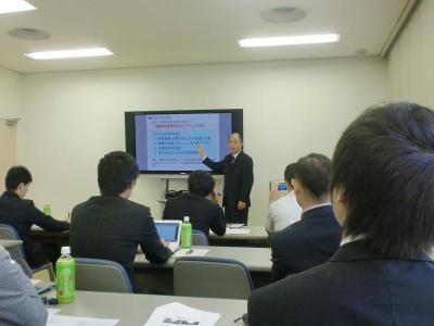 奈良越前市長 講師風景
