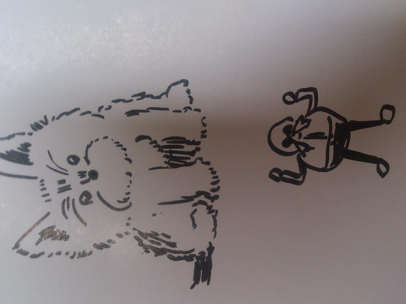 犬とエッグマン