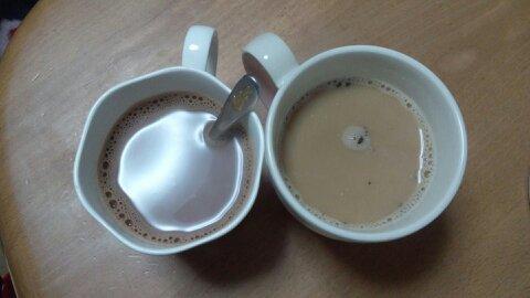 カフェオレとココア