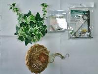 100shopグリーン・小鳥・ブランケット・籠