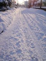 大雪の午前
