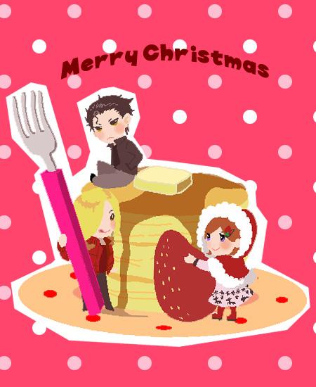 ホットケーキクリスマス。