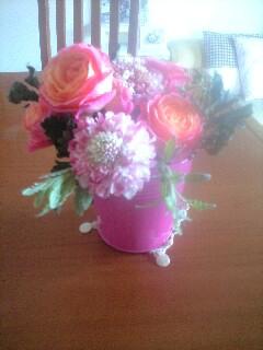 ピンク花イメージ写真