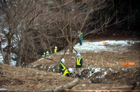 福島県で手抜き除染していたゼネコン作業員たちの光景写真