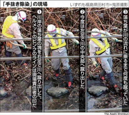 福島県田村市の鬼原氏撮影の手抜き除染の現場証拠写真