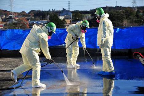 大手ゼネコン作業員による福島県の手抜き除染作業に該当する作業写真