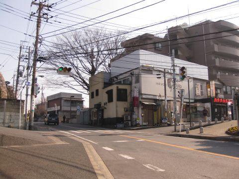 旧水戸街道・北柏駅前