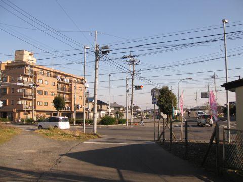 旧水戸街道 本街道・中通り分岐点