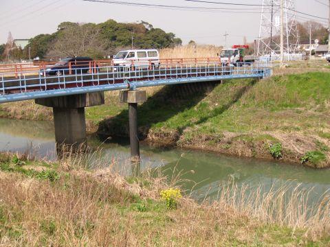 花室川と大川橋