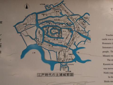 江戸時代の土浦城郭図