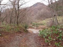 山王茶屋付近の旧道