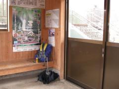 会津山村道場駅にて