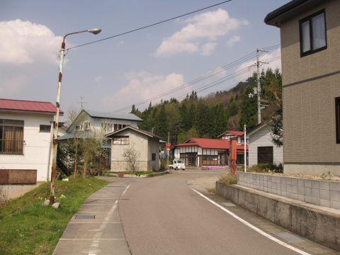 会津西街道旧道 関本