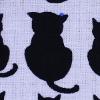 青いビーズの猫