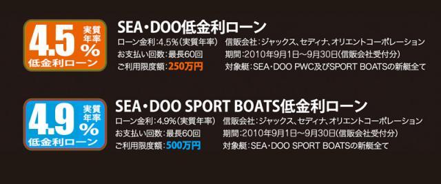 SEA-DOO 低金利ローン!!