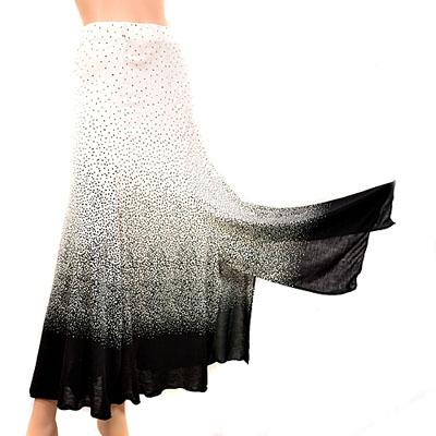 総柄裾スリット6枚はぎドット柄スカート_1