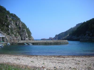 トドヶ埼入口の入り江