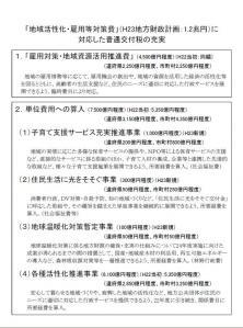 平成23年度普通交付税について