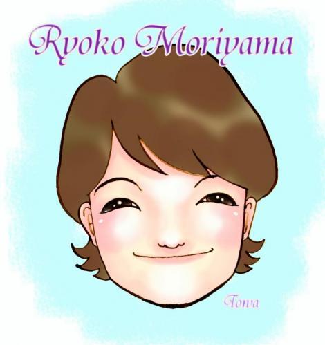 森山良子 さん 似顔絵
