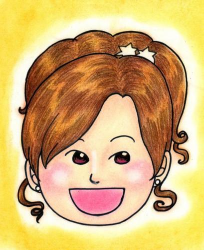 渡辺美里さん 似顔絵
