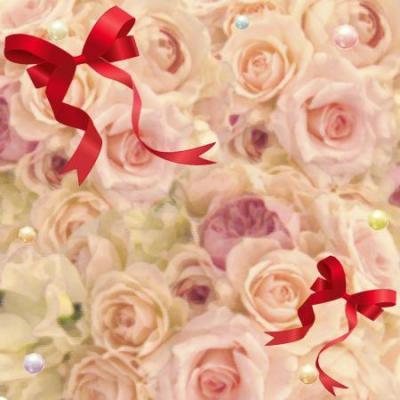 バラとリボンの背景