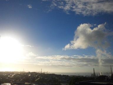 台風の翌朝1