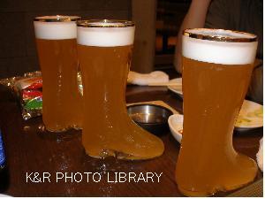 ブーツに入った、高級ビール