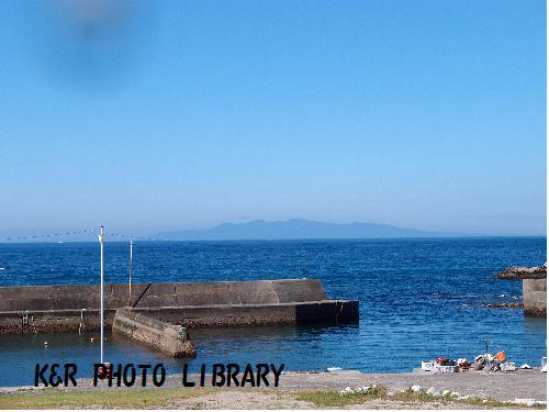 西川名から見る、伊豆大島