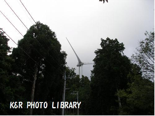 展望台は、風車のすぐ下。