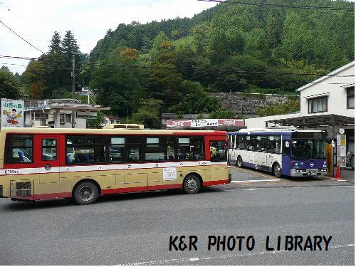 駅前のバス乗り場