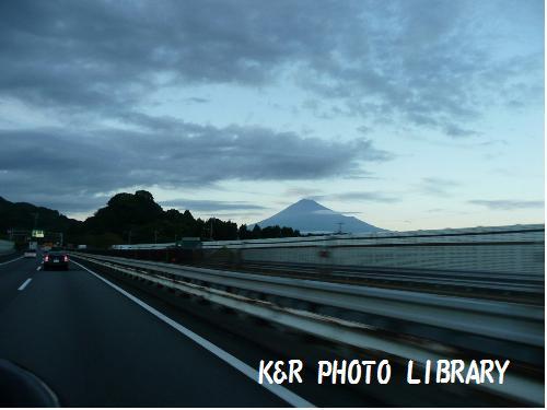 富士山を見ながら