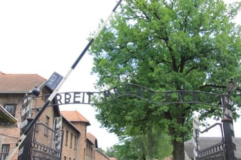 アウシュビッツ 門