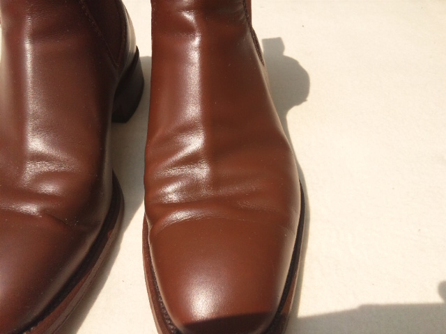 110817靴左アップ施工後