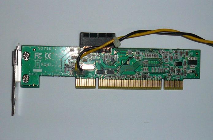 PCIEX1-PCI 表面改造個所