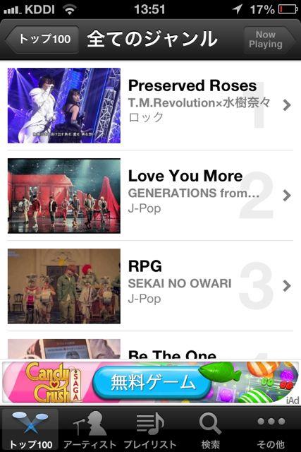 MusicTubee トップ100 1