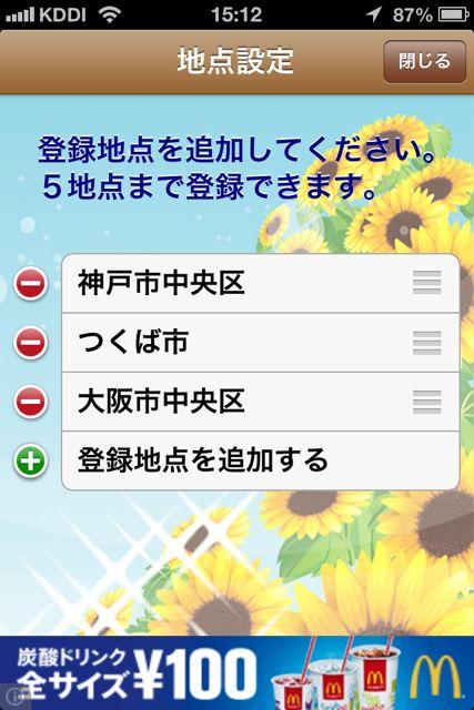 熱中症予報計 登録地点4