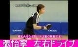 【卓球】 張怡寧 左右ドライブ練習