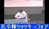 【卓球】 孔令輝の技術指導 ツッツキ→フォアハンド
