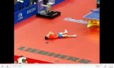 世界卓球2011 張継科の優勝の決定シーン
