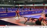 世界卓球2011 会場での朱世赫選手の練習