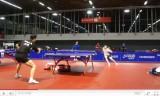 世界卓球2011 王励勤と陳杞の練習