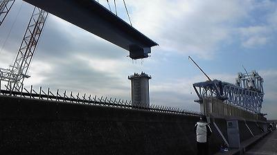 橋の建設風景①