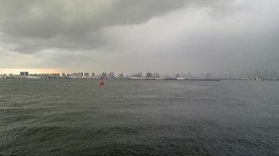 17:10頃の対岸の様子